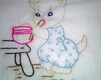 Kitten Chores pattern Saturday Free Shipping