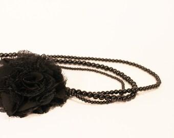 Vintage Jet Stone Necklace