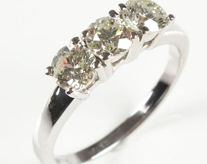 0.70 ct Diamond Engagement Ring, 14K White Gold Solitaire Ring,  Women Jewelry, Women Ring, Custom Size