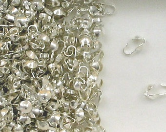 Sterling Silver 3.5mm Clamshell Bead Tips ,  300A