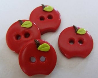 Apple Buttons ~ Set of 4