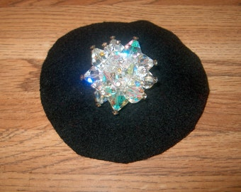 Vintage Costume Jewelry Crystal Glass Brooch Pin, Rhinestones, Star, WAS 40.00 -50% = 20.00