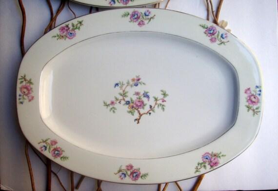 Antique Serving Platters Ceramic Antique Vintage Hand