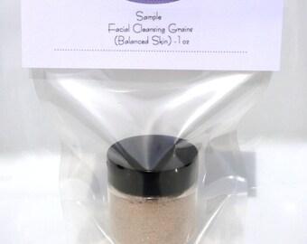 Facial Cleansing Grains - Rejuvenate (Balanced Skin) SAMPLE Size 1oz