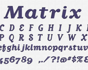 Matrix Font Embroidery Design Now Come with .BX Read Font!