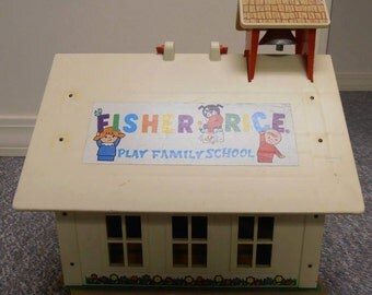 Vintage Fisher Price Little People 1971 School