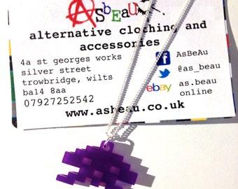 Space Invaders pendant chain #purple