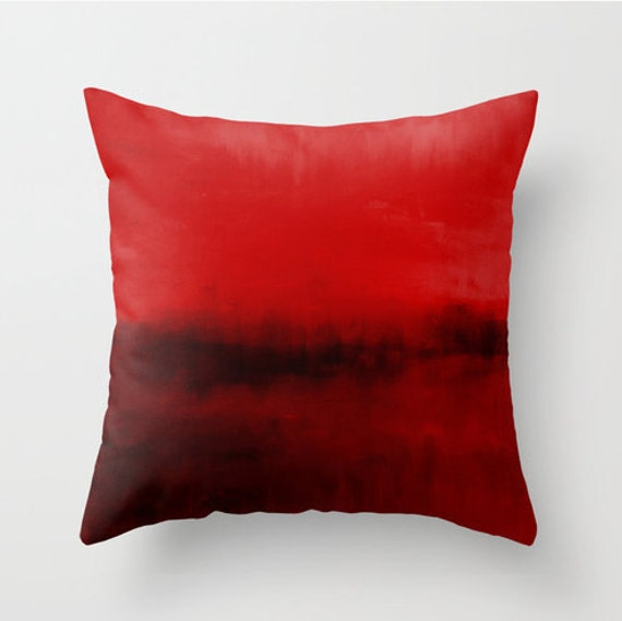 Modern Red Accent Pillows : Red Black Throw Pillow Cover Modern Home Decor by HLBhomedesigns