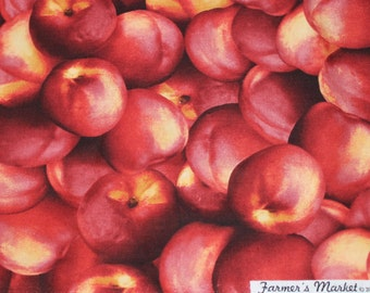 RJR Limited Edition Nectarine Farmer's Market fruit fabric Fabric per yard 100% Cotton/ Quilting/ Home decor, Kitchen valances, table cloths