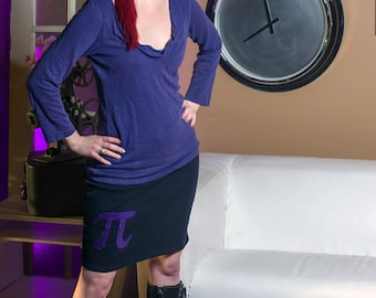 Pi Applique Comfy Jersey Pencil Skirt!