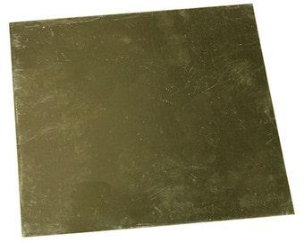 """Red Brass Sheet 26ga 6"""" x 6"""" 0.41mm Thick  (BS26-6)"""