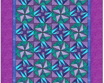 Catch a Star Foundation Quilt Patterns for 6 SIZES