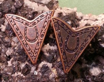 Western Collar Tips Antique Brass 173