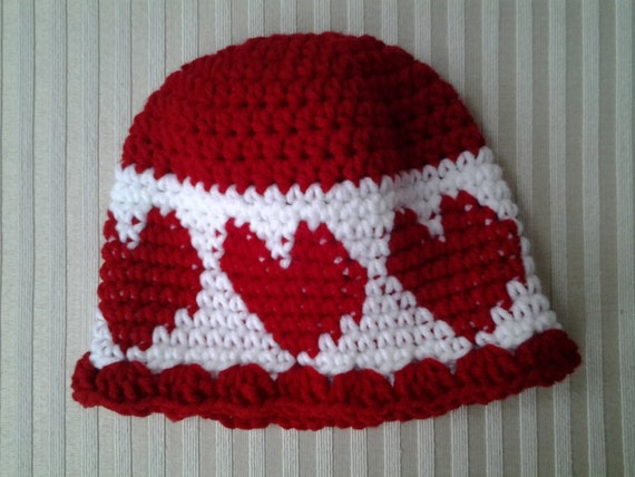 Crochet Valentine Hat : Valentines Day Crochet Hat by CuddleinCrochet on Etsy