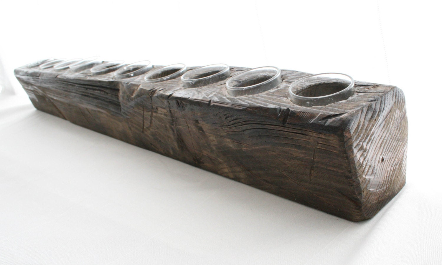 Wooden tapered candle holder tapered sides holds by for Oxford turned wood candle holders