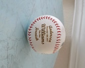 Engraved baseball for birthday, baby shower, new baby gift, baptism, personalized, customized