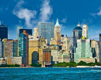 New York City wall decor photograph lower manhattan, big apple, skyscrapers pictures, cityscape photo, office art, tall buildings,Jimmy Rea