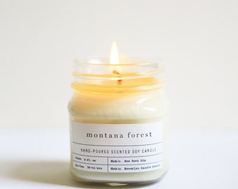 Montana Forest Mason Jar Soy Candle