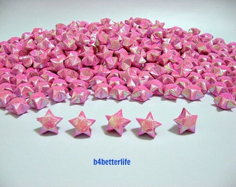 500pcs Velvet Pink Color Origami Lucky Stars. (RS paper series).