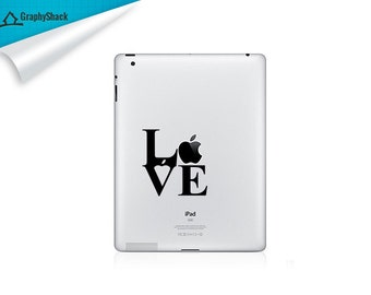 Love Statue Decal iPad Decal Gift Idea for Him & Gift Idea for Her fits iPad iPad 2 ipad 3 ipad 4 Retina Mini iPad and other tabs cars etc
