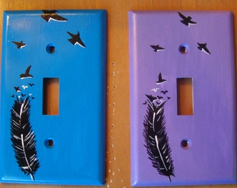 Feather Turning Into Birds Light Switch Cover (ONE-NOT BOTH)