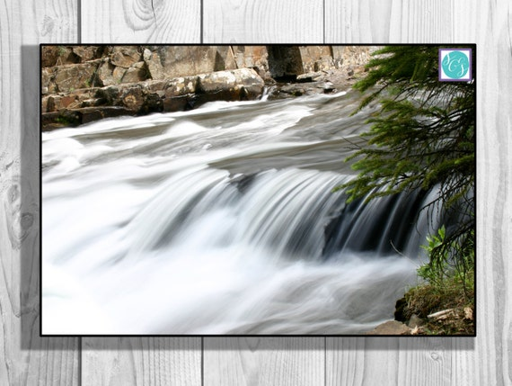 Canvas Wall Art Flowing River nature home decor aspen photograph stream waterfall living room kitchen bedroom original fine art photography