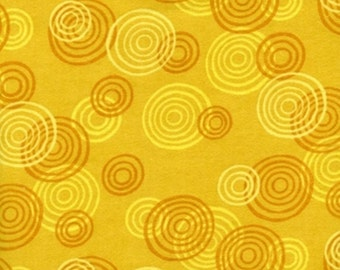 Jungle Buddies Yellow Large Swirls Flannel by Wilmington Prints 1/2 Yard 100% Designer Cotton by Viv Eisner 1931-858W