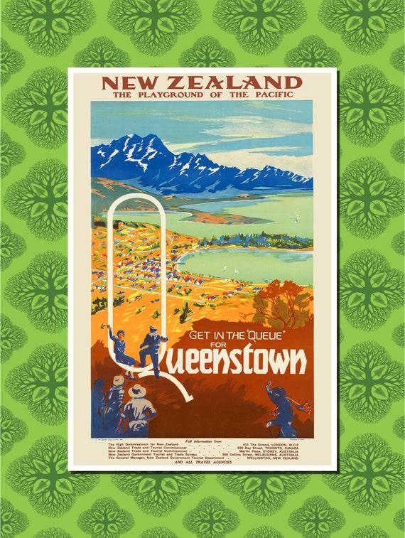 New Zealand Queenstown Travel Poster Wall Decor 7 Print
