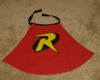 Robin Cape for baby - red or yellow (other sizes available)