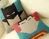 Superman Batman flash man iron man linen cushion pillow cover sofa bedroom sitting room adornment