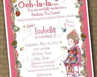 Fancy Nancy Birthday Soirée Invitation Printable File