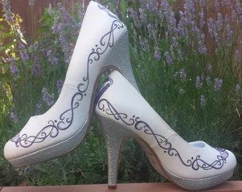 Custom Celtic Wedding Shoes