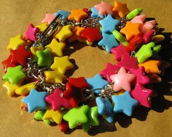 X030- Twinkle Twinkle Star Chunky Bracelet, Funky