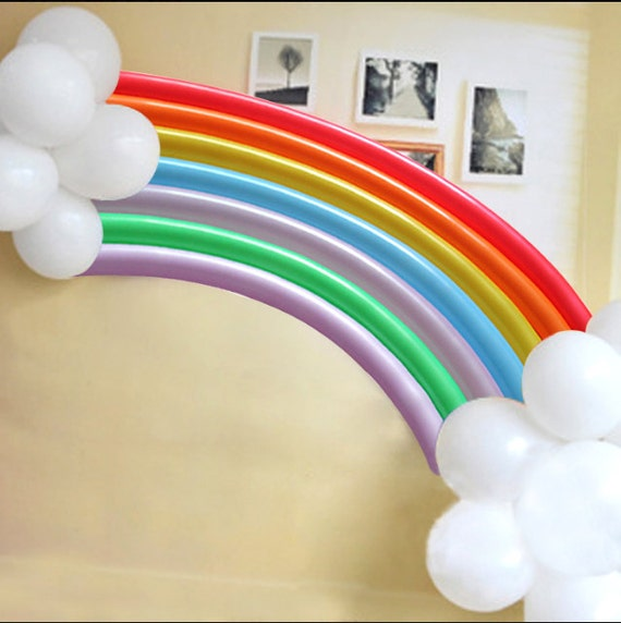 2 sets of rainbow balloons for wedding party prewedding bridal baby shower birthday balloon banner