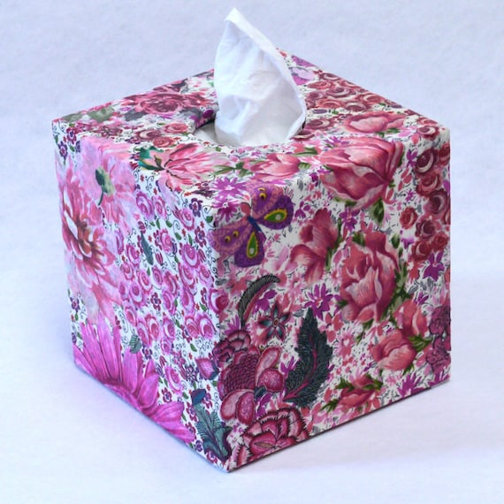 Decorated Tissue Box: Tissue Box Cover Decorated With Shades Of By