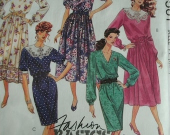 Misses Dresses in Two Lengths Sizes 6-8-10 McCalls Pattern 5561 Petite-Able, Fashion Basics, Cut-to-Fit Pattern UNCUT 1991