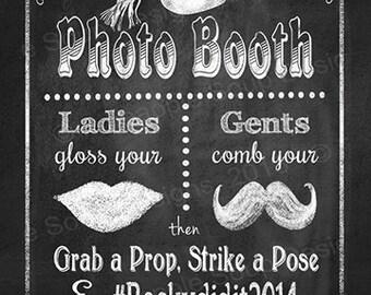Graduation PHOTO BOOTH  Sign   PRINTABLE Social Media Sign, Hashtag Sign, Grab a Prop, Strike a Pose, Chalkboard Graduation Sign, Grad Decor