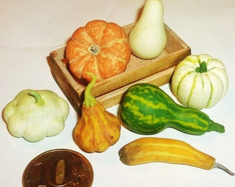 Dollhouse miniature 1:12 Pumpkin,rustic style,rustic,ranch, village