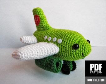Plane Crochet Pattern | Amigurumi Plane Pattern | Crochet Tutorial Plane | Kawaii Crochet Plane Pattern | Cute Crochet Patterns, Funny Plane