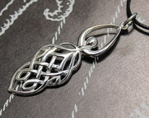 Celtic Goddess Sterling Silver Pendant - Celtic Knotwork and Goddess Combined to Form Beautiful Silver Pendant