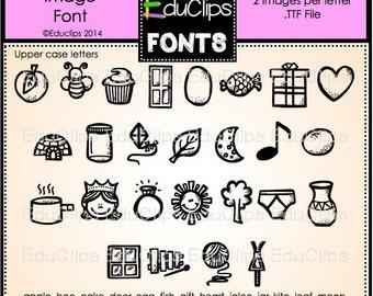 Alpha-pics Alphabet Images Font