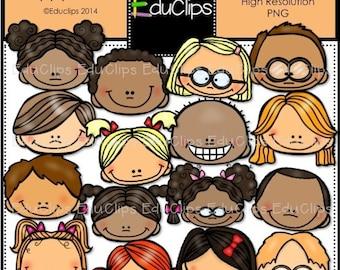 Happy faces Clip Art Bundle
