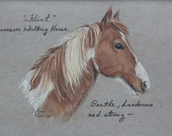 Custom Horse Sketch with mat