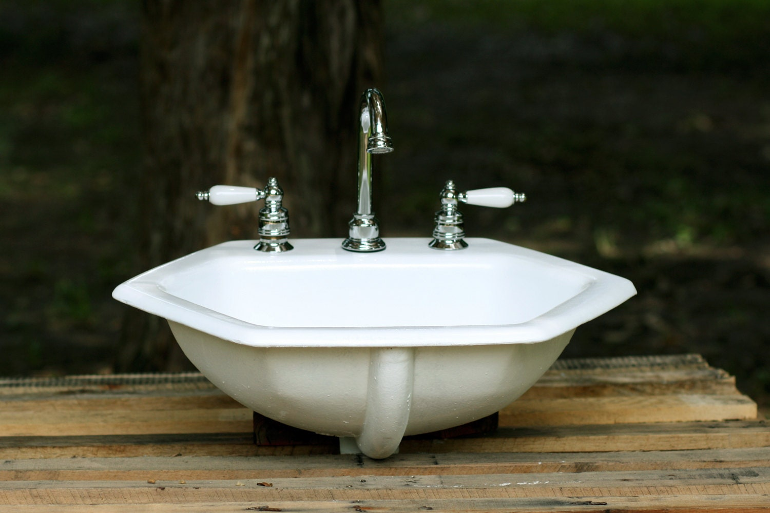 cast iron bathroom sinks 1964 kohler octagon bathroom sink porcelain cast iron by 17611