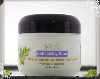 For Psoriasis and Eczema.Anti Itching Balm with Colloidal Oatmeal ,Calendula extract,Tea Tree Oil