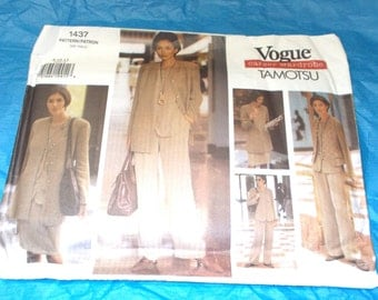 Tamotsu Vogue 1437 Sewing Pattern Uncut Career Wardrobe size 8 10 12
