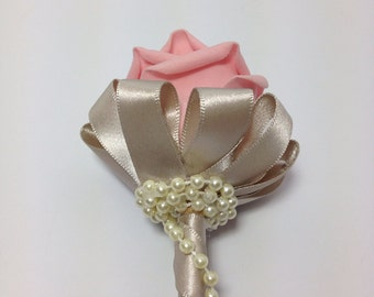 Flower Girl Wand, Fairy Wand, foam rose with pearls, Fairy Tale Wedding