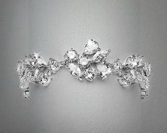 Bridal cubic zirconia bracelet wedding jewelry bridal jewelry Bridal Bracelet
