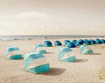 Beach Cabanas Florida Vacations Photography Florida Beach art decor