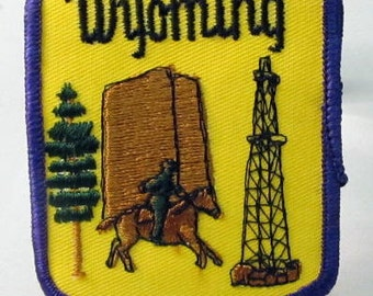 WYOMING STATE  jacket or shirt patch.  embroidered cloth
